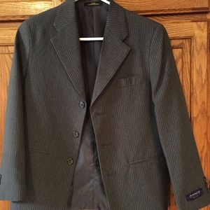 Boys Suit  Pinstriped Gray